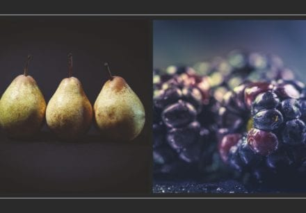 Pear blackberry autumn fruit